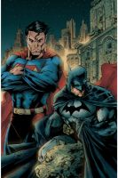 Superman + Batman by i3i11theWi11