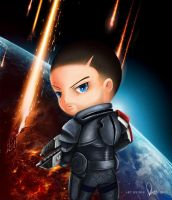 Chibi Shepard by peastri