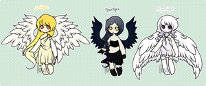 [itasox collab set: angels II : AUCTION ] by sockjuice