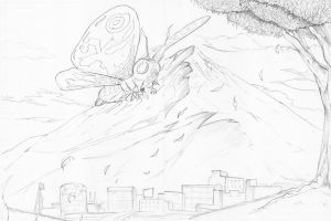 Mothra Pencil by TheEndofOurLives