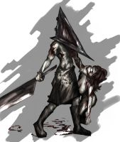 Pyramid Head bloody version by reloadfreak