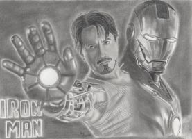 Robert Downey Jr. is Iron Man by FromPencil2Paper