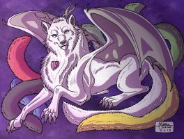 WOLF DRAGON by RUNNINGWOLF-MIRARI