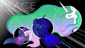 Three Princesses ~Wallpaper~ by TellabArt