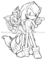 Sonic N Tails - First of 2010 by MaRaMa-TSG