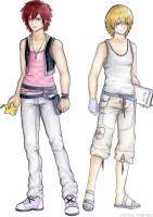 male  kairi and namine kh by Stalaxy