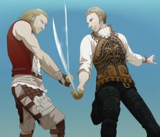 Balthier and Basch by doubleleaf