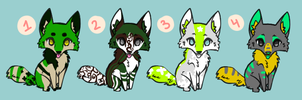 St Patties Day Adoptables.CLOSED. by HappyFoxChelsy