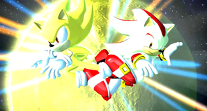 Sonic Generations Super Sonic VS Super Shadow by SonicTheHedgeSantos