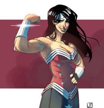 Buff Wonder Woman by jpfederhenn