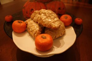 Sweet Pumpkin Scones by thelastpterodactyl