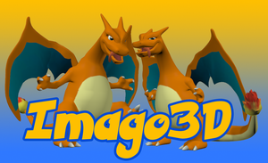 Graphic Charizard by imago3d