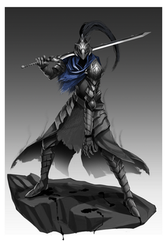 Artorias, The Abysswalker by LessDraws