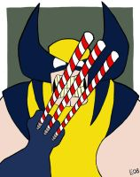 Candycane Wolverine by EO88