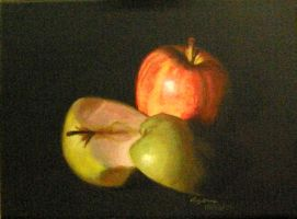 School Art- Apples Painting by Agirl3003
