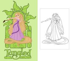 Tangled coloring page by Citron--Vert