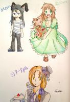 Three Adopts have an owner :3 by OrenjiMican