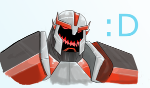 Blitzwing-ed Ratchet by caboosemcgrief