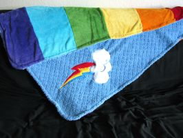 Rainbow Dash Blanket! by Lisa-Lou-Who