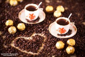Coffee and Coffee Beans by thesashabell