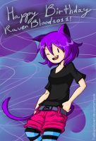 AT OC Happy birthday RavenBlood1011 by TiaBlackRaven