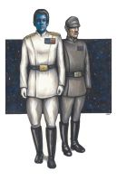 Thrawn and Pellaeon Commission by AshleighPopplewell