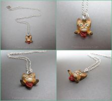 Angry Cat Necklace Commission by Tsurera