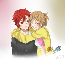 [Gundam Build Fighters Try] FuminaxSekai by AquaLeonhart