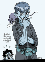 Milo and Mordy (and Harry Potter) by mokkurkalfe