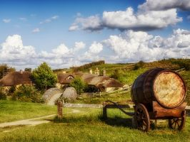The Green Dragon in Hobbiton by wolfblueeyes