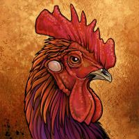 Rooster Tile by ursulav