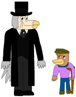 Ebenezer Scrooge and Tiny Tim by jacobyel