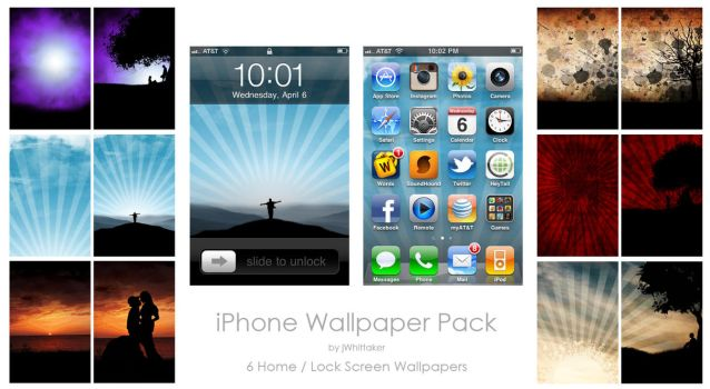 iPhone Wallpaper Pack 1 by jWhittaker
