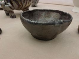 Altered Thrown Bowl - Raku by LovelyLittleLemon