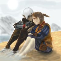 Fenris and Hawke: Alone Time by DragoninK21