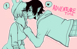 AT: Fionna and Marshall Lee by LooneyLolita