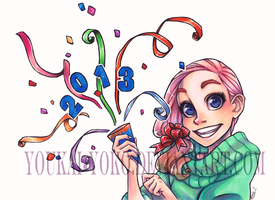Copic Coloring Contest- New Years winner by Youkai-Yoko