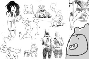 Watching Adventure time by royalboiler