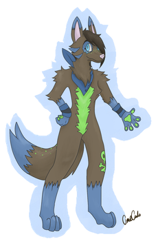 Bluepatch's new design by OmeletteAvocado