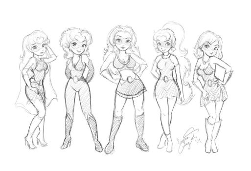 sketchy girls by enigmawing