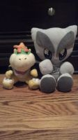 Fella and Boswer Jr Plushies by Bowser14456