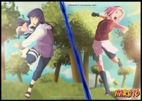 Two girl for Naruto -Collab- by Darkartmind87
