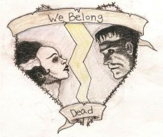 We Belong Dead Tattoo Design by LaurenWiles