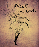 insect girl - day 13 by mosuga