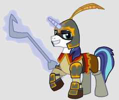 Shining Armor as Sir Galleth Cooper by Death-Driver-5000