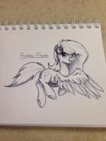 Feather Flame Sketch by kkp101