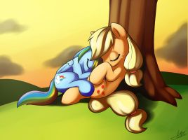 AJ and RD napping by Skecchiart