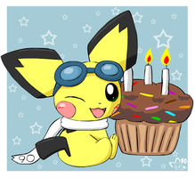 Sparks turns 3 by pichu90