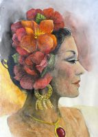 Fiesta - Watercolor Ad Prismacolor by O-Tripp