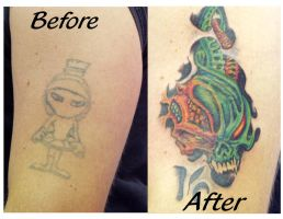 Before  and after by Twistedink